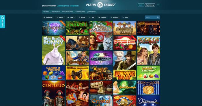Platin Casino Bonuscode 2017
